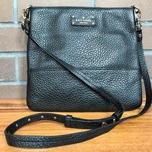 Kate Spade cross body bag purse. Black leather